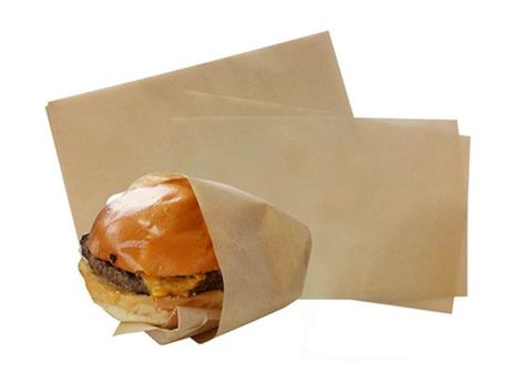 Premium Brown Lunchwrap Greaseproof Paper 6 Cut (Squares) 200mm(W)  x 165mm(L) - Packet of 3,200