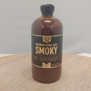BOURBON BARREL AGED SMOKY BBQ SAUCE 567G