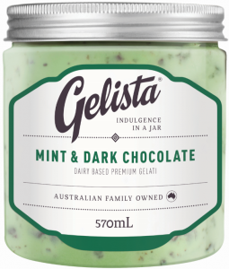 GELISTA GARDEN MINT DARK CHOCOLATE 570ML