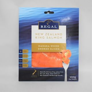 Ks Regal Manuka Smoked Salmon 100Gm