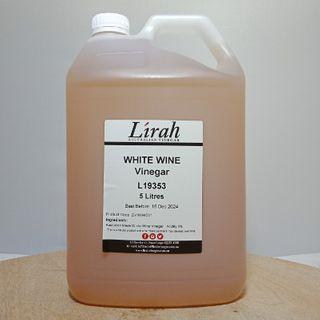 LIRAH WHITE WINE VINEGAR 5LTR