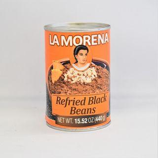 LA M REFRIED BLACK BEANS 440G