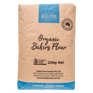 Kialla Organic Bakers Plain Flour 20Kg