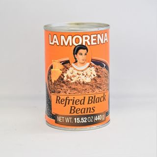 LA M REFRIED BLACK BEANS 440G