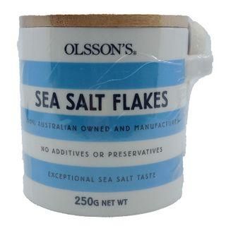 SEA SALT FLAKES STONEWARE 250GM OLSSONS
