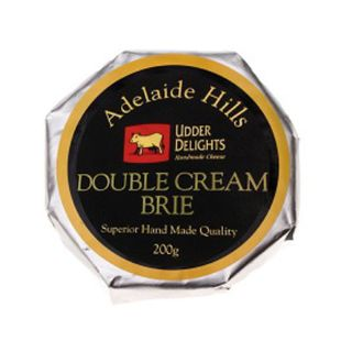 ADELAIDE HILLS DOUBLE BRIE CHEESE 200GM