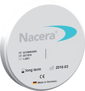 Nacera pearl White 20 Mm