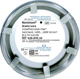 Noninium Wire Hard  0.70 Mm/2