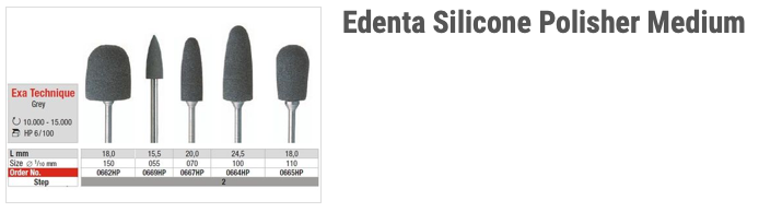 Edenta Silicone Polisher Medium