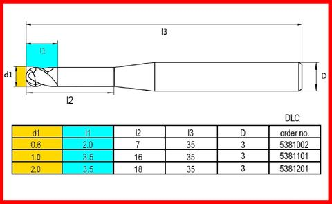 VHF 2 mm Diamond-Like Coating 35mm length