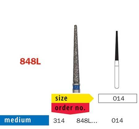 Diaswiss FG Extra-Long Flat End Taper 848L/014 Med
