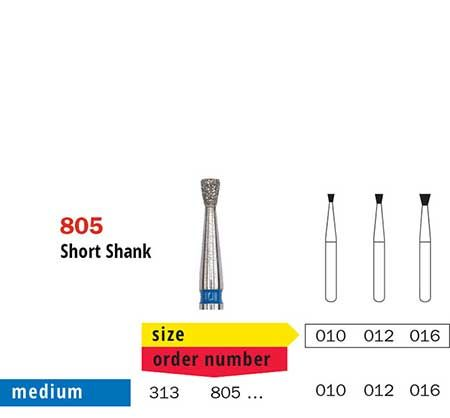 Short Shank Inverted Cone
