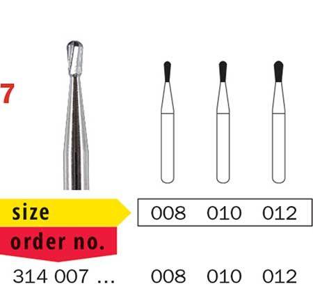 Diaswiss FG Tungsten Carbide Pear Shape