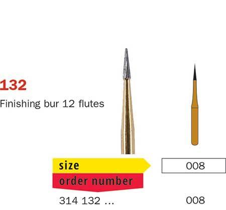 Diaswiss FG T/Carbide Finishing 12 Fluted 132/008