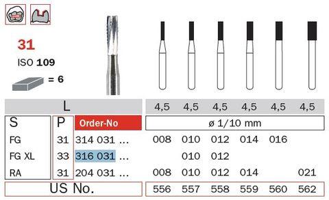 FG Tungsten Carbide Flat End Extra Long