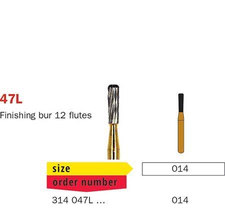 Diaswiss FG T/Carbide Finishing 12 Fluted 47L/014