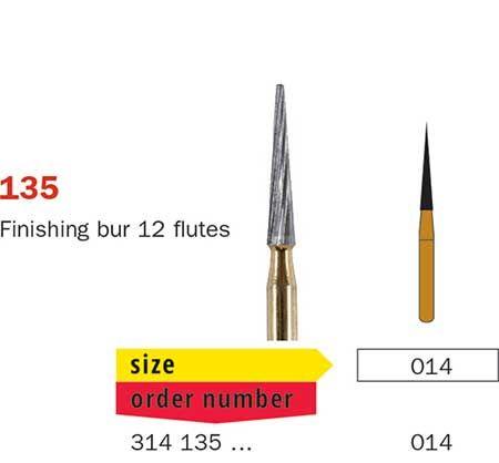 Diaswiss FG T/Carbide Finishing 12 Fluted 135/014