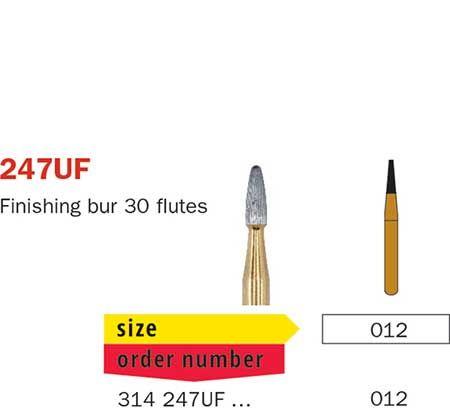 Diaswiss FG T/Carbide Finishing 30 Fluted 247UF/01