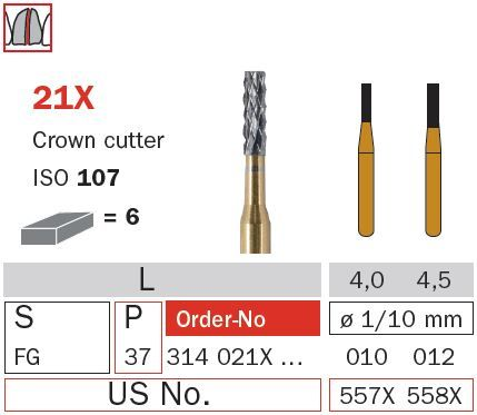 Diaswiss FG Crown Cutter Flat End T/Carbide