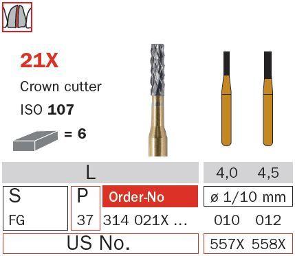Diaswiss FG Crown Cutter Flat End T/Carbide