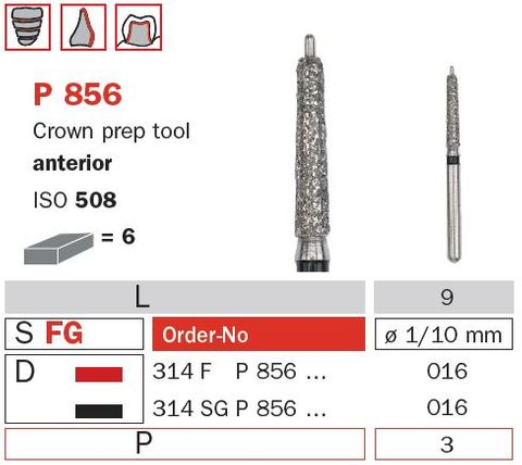 Crown Prep w/ Guide Pin Anterior P856