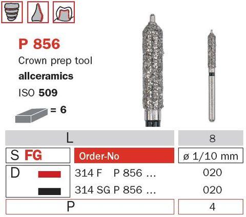 Crown Prep w/ Guide Pin Allceramics P850