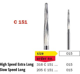 Diaswiss FG Surgical Extra Long Tapered C151/015