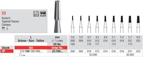 Edenta HP Steel Fissure 23/008