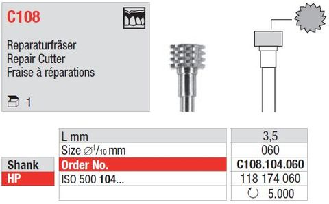 Edenta Repair Cutter C108/060