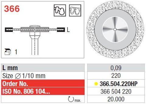 Edenta UltraFlex Diamond Disc 366/220 Extra-Fine