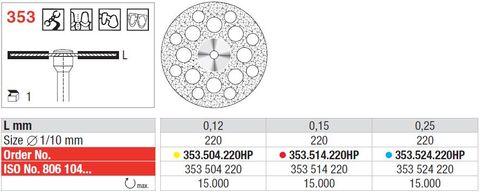 Edenta Superflex Diamond Disc 353