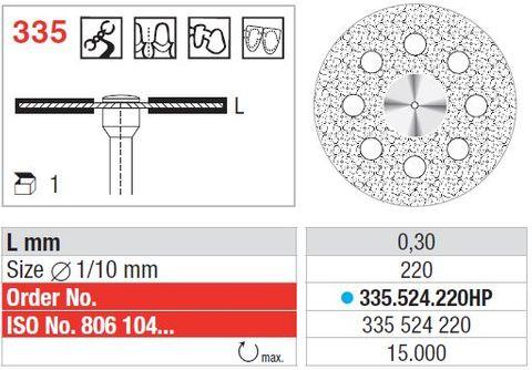 Edenta Flex Diamond Disc 335/220Medium