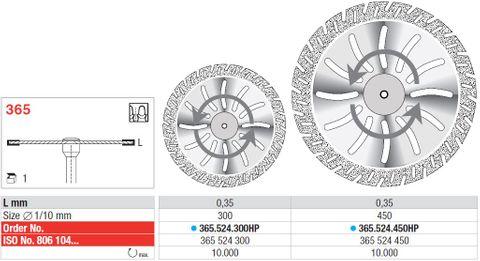 Edenta Flex Diamond Disc 365/300 Medium