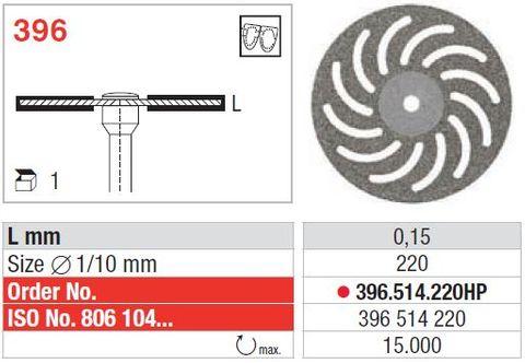 Edenta Superflex Diamond Disc 396/220 FIne