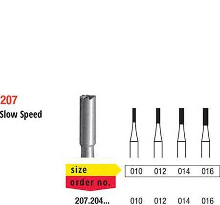Edenta RA Steel Bur Flat Fissure 207/010 (Pk of 6)