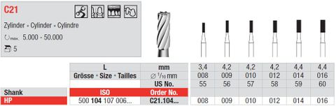 Edenta HP Tungsten Carbide Cylinder C21