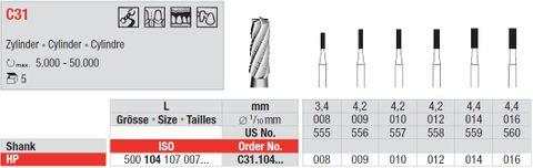 Edenta HP Tungsten Carbide Cylinder C31