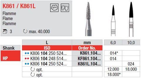 Edenta HP Flame Zirconia Prepparation K861L/024