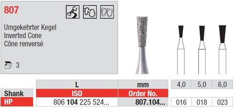 Edenta HP Diamond Inverted Cone Long