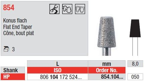 Edenta HP Diamond Flat End Taper 854/050