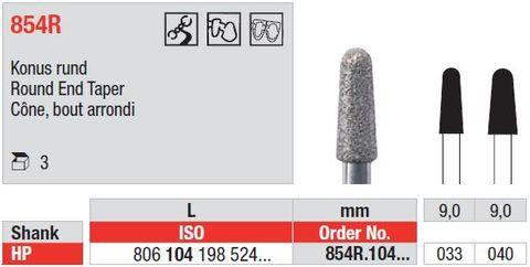 Edenta HP Diamond Round End Taper 854R/033