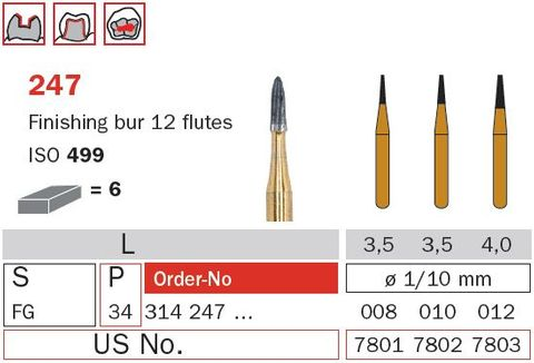 Diaswiss FG Tungsten Carbide Finishing 12 Fluted
