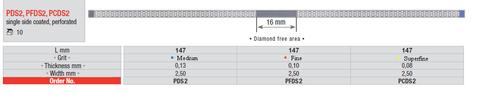 Edenta Diamond Strips PFDS2 Perforated 3.75mm Fine