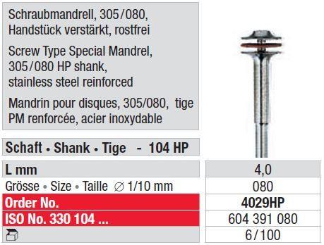 Edenta Mandrel for Polisher 80mm