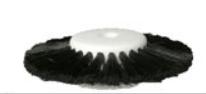Stoddard Triple Row Black Bristle Lathe Brush 57mm
