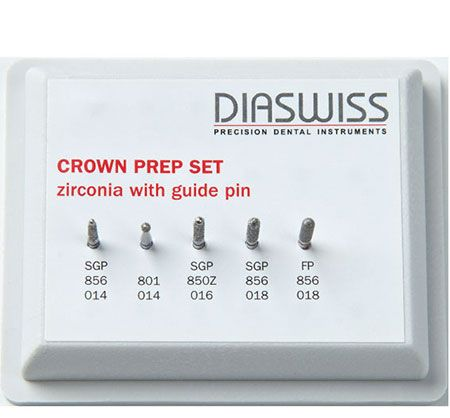Diaswiss Crown Prep Set for Zirconia