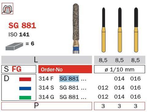 Diaswiss FG S/Goldie Rnd Cylinder SG881/012 XFine