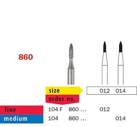 Diaswiss HP Diamond Short Flame 860/014
