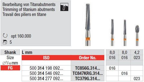 Edenta FG T/Carbide Titanium Finisher 379G/023