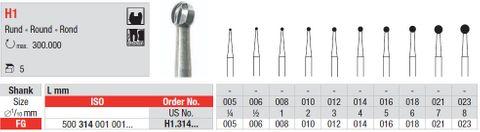 Edenta FG Tungsten Carbide Round